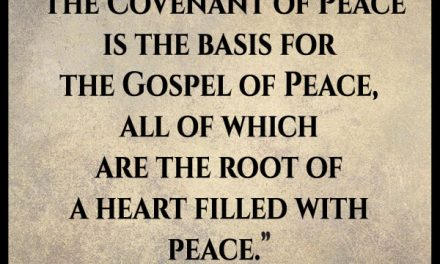 "I'm not sure I understand this whole ""Covenant of Peace."""