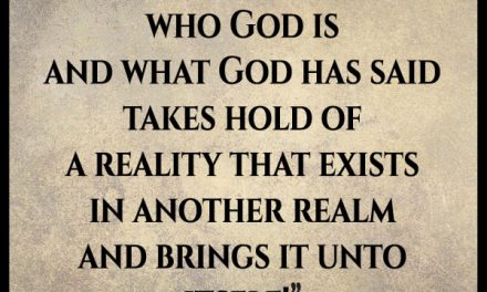 I don't understand how God could have a different version of reality than I am experiencing.