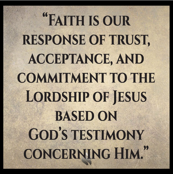 I thought we only had to believe that Jesus was the Son of God! What is your definition of faith in Jesus?