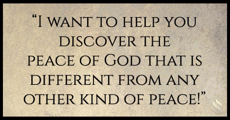 Discover the difference between the peace of God and the peace the world gives!