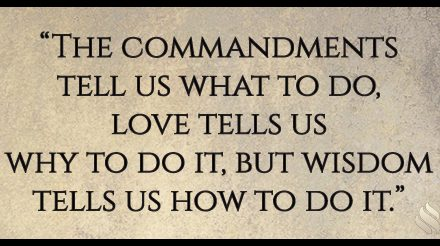 Is it true that the commandments don't apply to us?
